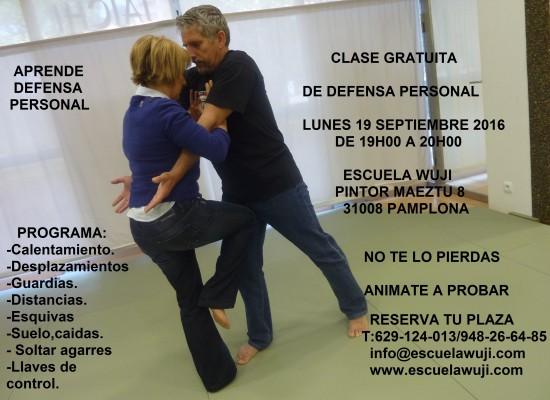 CLASE GRATUITA DE DEFENSA PERSONAL