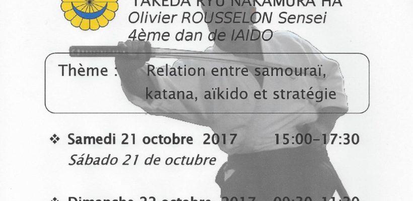 CURSO DE IAIDO TAKEDA RYU NAKAMURA HA  21-22  OCTUBRE 2017