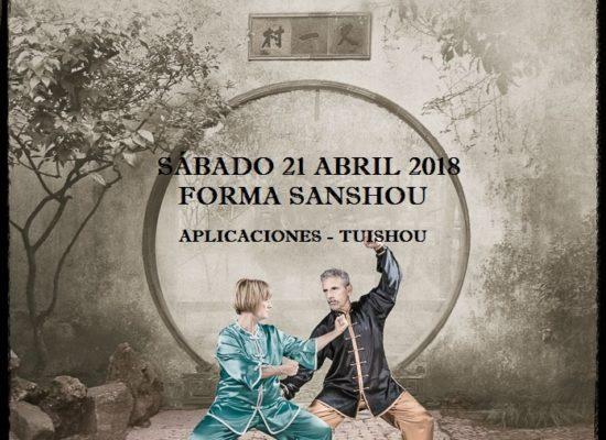 CURSO DE TAI CHI CHUAN -FORMA SANSHOU -SÁBADO 21 ABRIL 2018