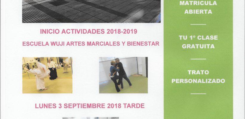 INICIO ACTIVIDADES 2018-2019  LUNES 3 DE SEPTIEMBRE 2018 TARDE