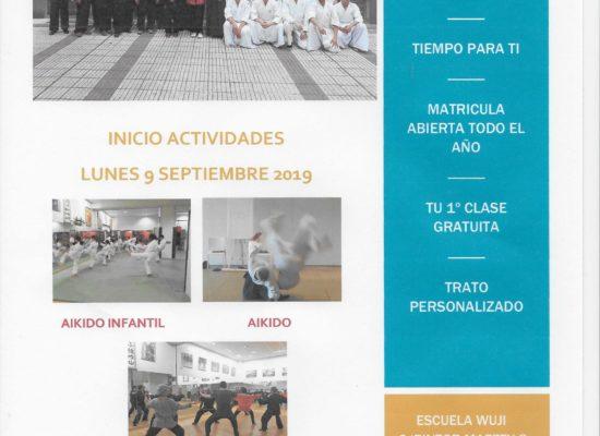 INICIO ACTIVIDADES 2019-2020  LUNES 9 DE SEPTIEMBRE 2019